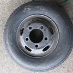 トラックのリング付きチューブタイプタイヤを交換しました[7.00R16 10PR]