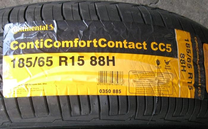 コンチコンフォートコンタクト5 185/65R15