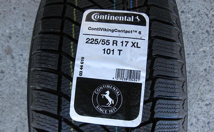コンチネンタル-コンチバイキングコンタクト6-225/55R17-101T