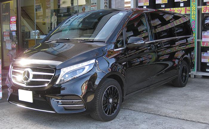 メルセデスベンツV220d タイヤ交換 225/55R17