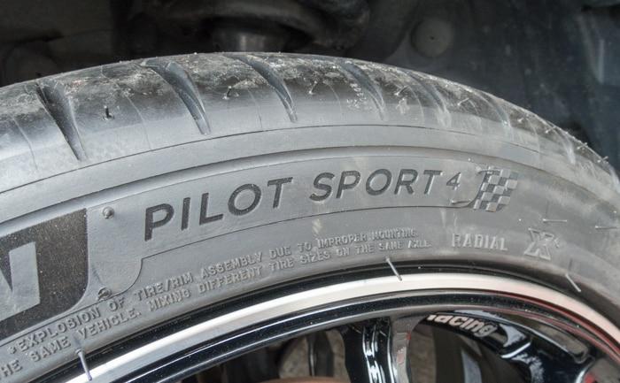 パイロットスポーツ4 サイドウォールデザイン