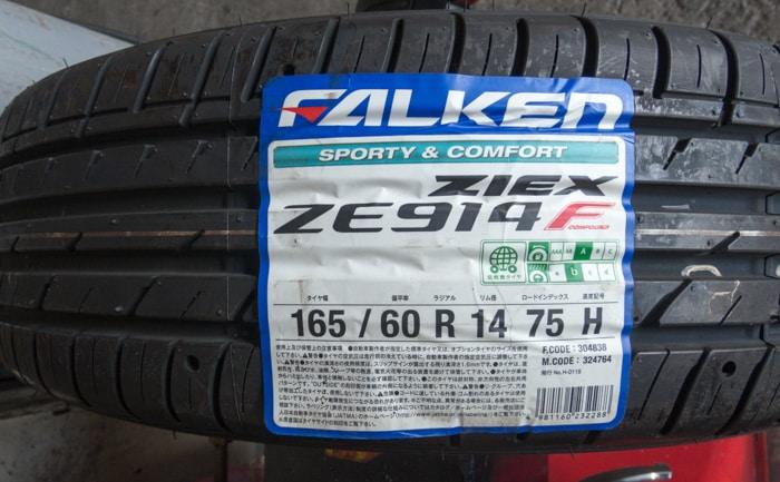 ファルケン ZIEX 914F タイヤ交換 川越