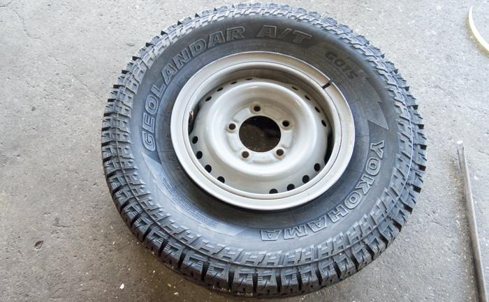 タイヤ交換 リング付き チューブ フラップ