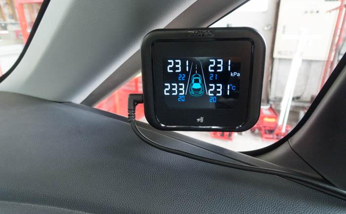 温度 空気圧 モニター