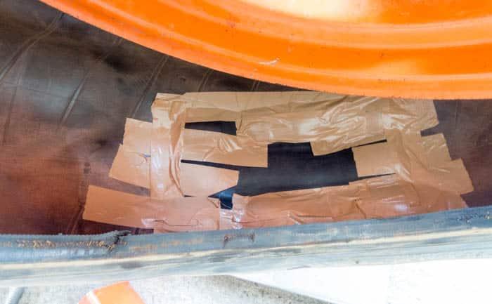 タイヤ 応急処置 内部