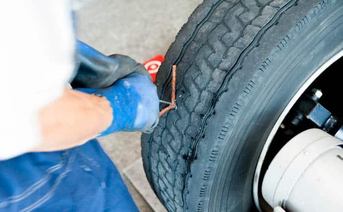 パンク修理 外面 プラグ タイヤ