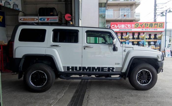 HUMMER H3 タイヤ交換 川越市