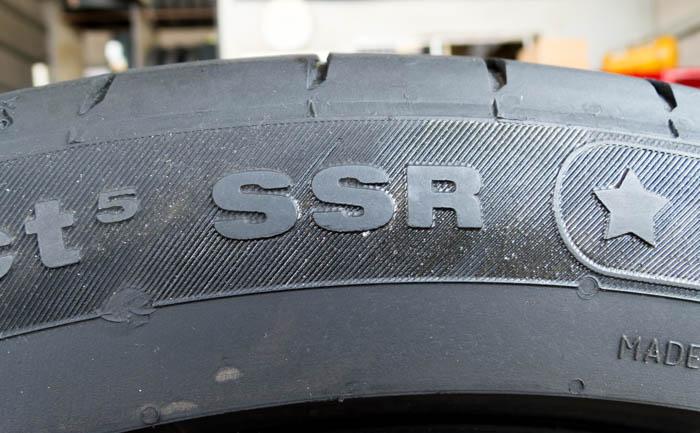 コンチネンタル ランフラットタイヤ SSR