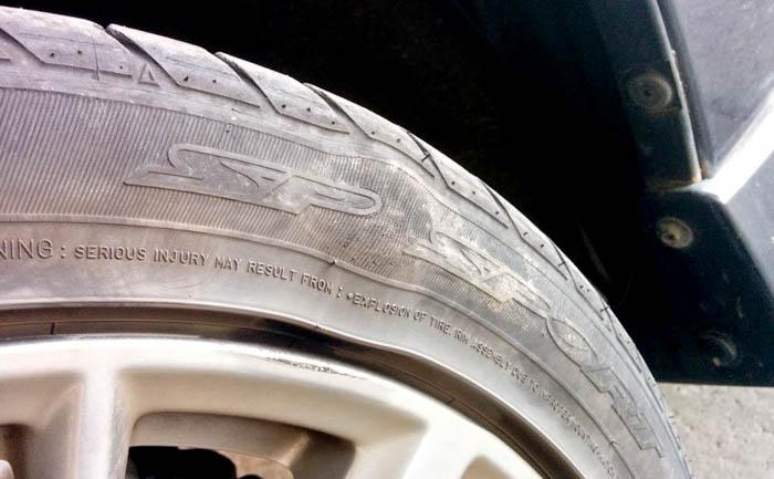 タイヤ コブ 膨らみ セパレーション