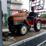 クボタの農耕機(トラクター)ASTE A-30にタイロンのタイヤを装着しました[(F)4.00-12 4PR (R)7-14 PR]