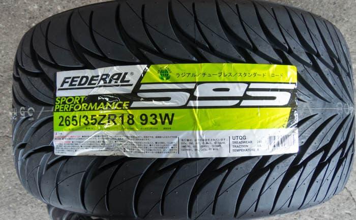 フェデラル 595 265/35R18
