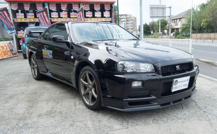 R34 GT-R タイヤ交換 川越