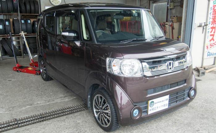 N-BOX タイヤ交換 165/55R15 川越