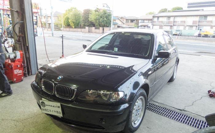 BMW3シリーズ タイヤ交換 川越 埼玉
