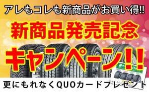 [お買い得]新商品発売記念キャンペーン[QUOカードプレゼント]