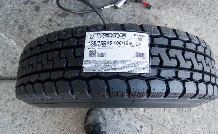 TY285 185/75R15 タイヤ交換