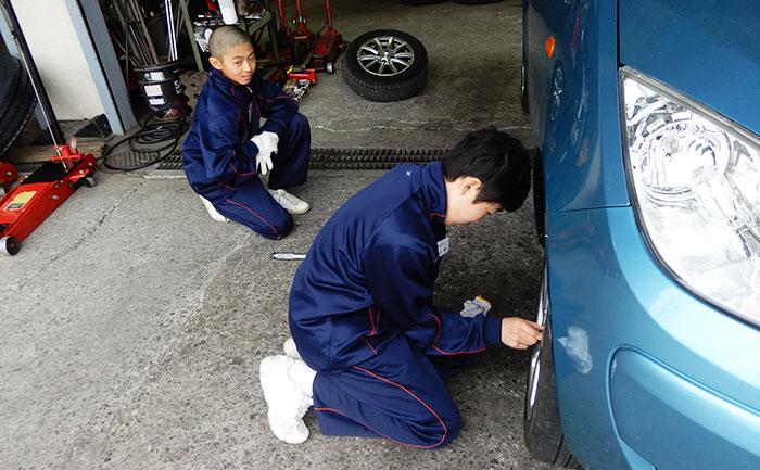城南中学校 相広タイヤ 職場体験