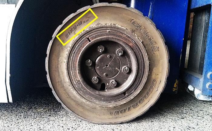 カウンターフォーク タイヤ サイズ 見方