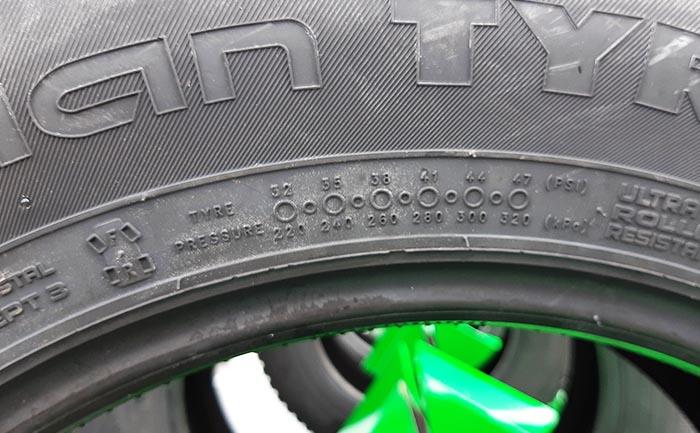 空気圧相広タイヤ