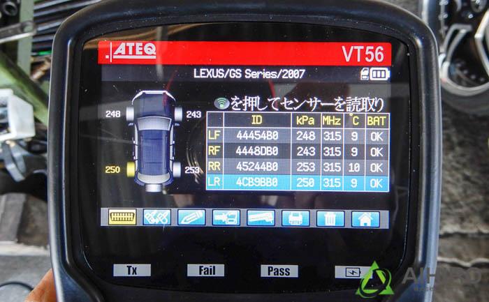 空気圧センサー 書き込み タイヤ