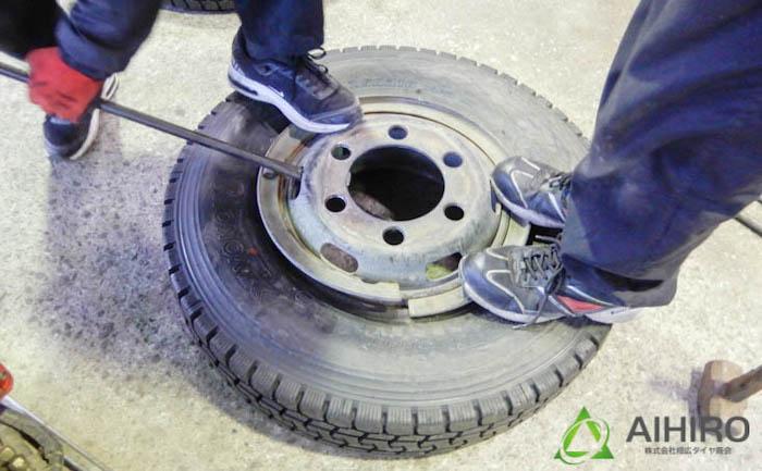 相広タイヤ リング付きホイール タイヤ交換