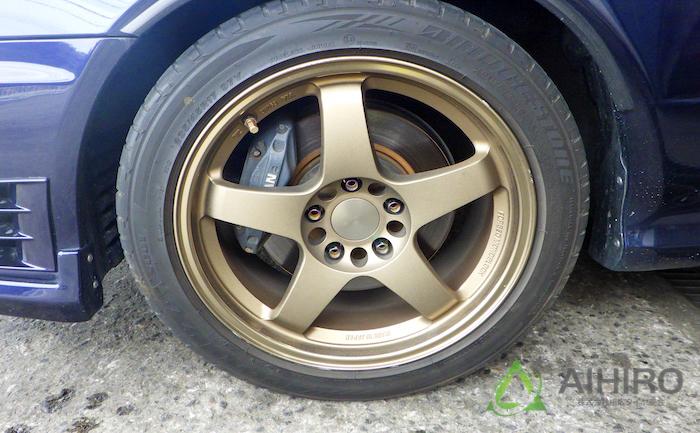 交換前 タイヤ ポテンザ