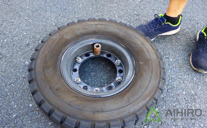 合わせホイール タイヤ パンク修理