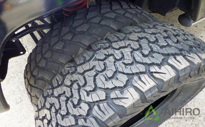タイヤ交換 ジープ 相広タイヤ