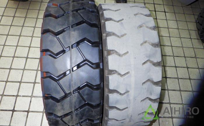 タイヤ交換 フロントタイヤ フォークリフト