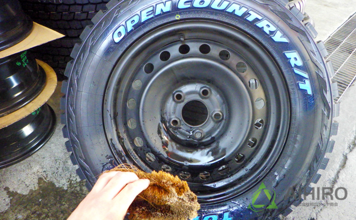 オープンカントリーR/T タイヤ ホワイトレター