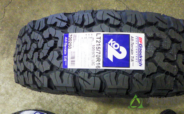 BFグッドリッジ オールテレーンT/A タイヤ交換