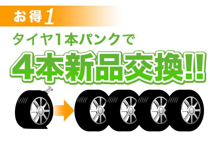 タイヤパンク保証 川越 埼玉県